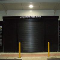 black roller shutters