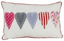 girls cushion cover hearts