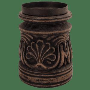 boho wood candle holder