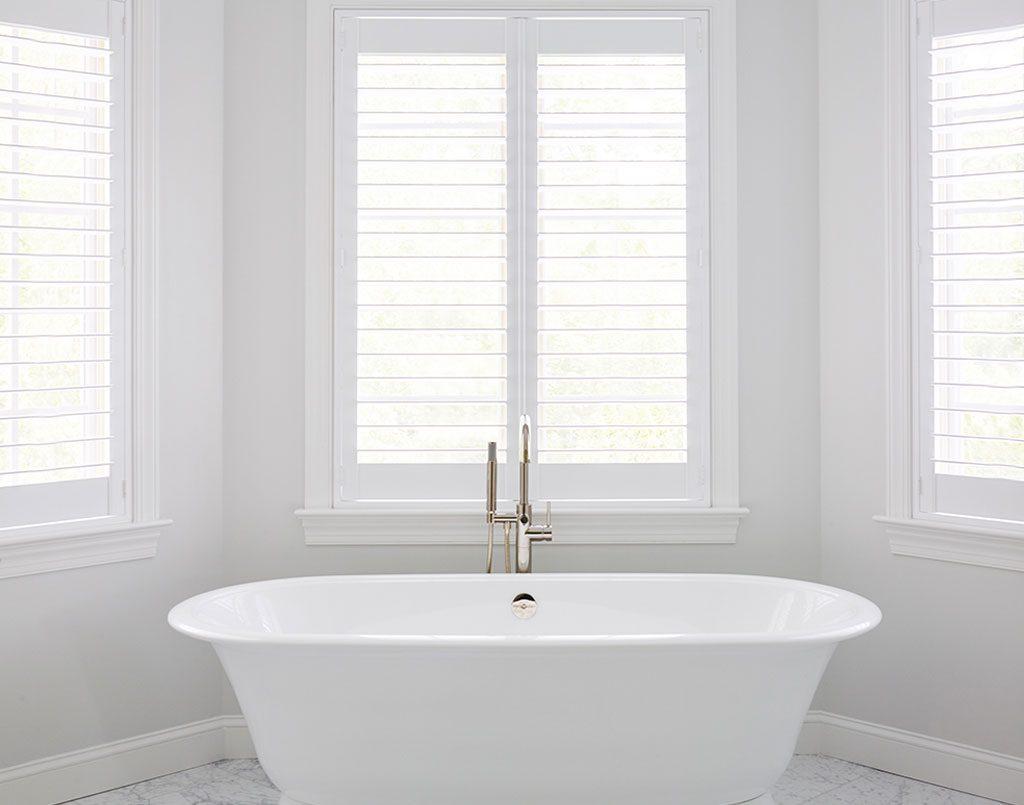 Plantation Shutters Adelaide White bathroom tub